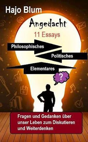 Bog, paperback Angedacht - 11 Essays af Hajo Blum