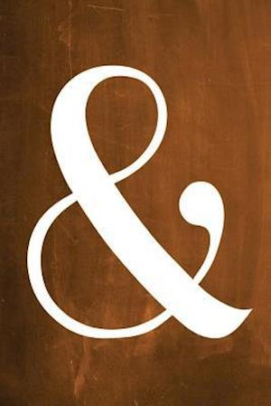 Bog, paperback Chalkboard Journal - Ampersand (Orange) af Marissa Kent