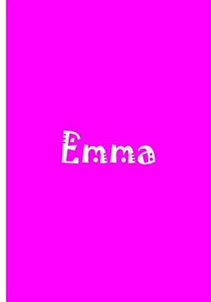 Bog, paperback Emma - Bright Pink Personalized Journal / Notebook / Blank Lined Pages af Ethi Pike