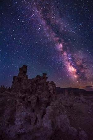 Bog, paperback Milky Way in the Night Sky at Mono Lake California USA Journal af Cs Creations