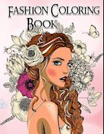 Fashion Coloring Book. Grayscale Coloring Book
