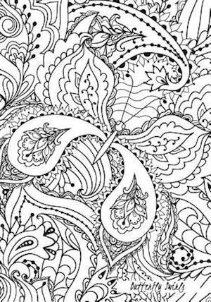 Bog, paperback Butterfly Swirls - A Color Your Cover Journal af Rogena Mitchell-Jones