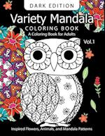 Variety Mandala Book Coloring Dark Edition Vol.1