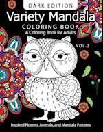 Variety Mandala Book Coloring Dark Edition Vol.2 af Barbara W. Walker, Mandala Coloring Book Dark Edition