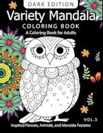 Variety Mandala Book Coloring Dark Edition Vol.3
