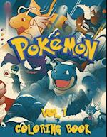 Pokemon Coloring Book - 80 Pages A4 (Volume 1)