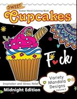 Sweet Cupcakes Coloring Book Midnight Edition Vol.2