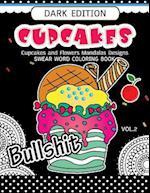 Cupcakes Coloring Book Dark Edition Vol.2