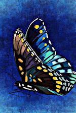 Butterfly Art on Blue