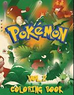 Pokemon Coloring Book - 80 Pages A4 (Volume 2)