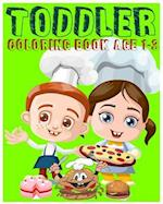 Toddler Coloring Book Age 1-3