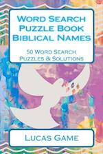 Word Search Puzzle Book Biblical Names