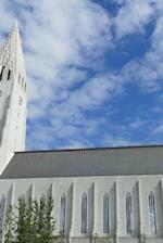 The Hallgrimskirkja Cathedral Side View in Reykjavik, Iceland
