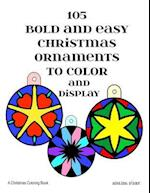 105 Bold and Easy Christmas Ornaments to Color and Display