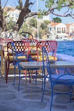 Sitting at a Sidewalk Cafe on Simi Island Greece Journal