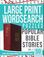 Large Print Wordsearches Puzzles Popular Bible Stories