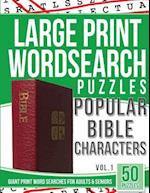 Large Print Wordsearches Puzzles Popular Bible Characters