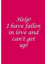 Help! I Have Fallen and Can't Get Up! - Magenta Custom Journal / Blank Lined Pages