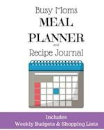 Busy Moms Meal Planner and Recipe Journal