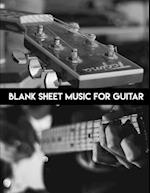 Blank Music Sheet for Guitar