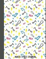 Music Lyric Journal for Kids