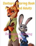 Zootopia Coloring Book for Kids and Adults-Zootopia Coloring Book