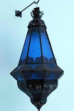 Exotic Blue Moroccan Lamp Journal