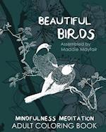 Beautiful Birds Mindfulness Meditation Adult Coloring Book