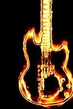 A Flaming Electric Guitar Rock God Journal