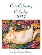 Cat Coloring Calendar 2017
