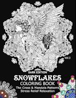Snowflake Coloring Book Dark Edition Vol.3