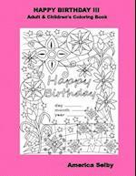 Happy Birthday III Adult & Children's Coloring Book