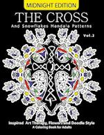 The Cross and Snowflake Mandala Patterns Midnight Edition Vol.2