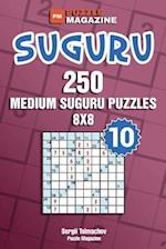 Suguru - 250 Medium Suguru Puzzles 8x8 (Volume 10)