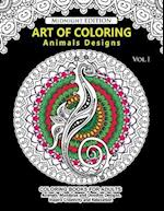 Art of Coloring Animal Design Midnight Edition
