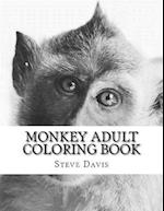 Monkey Adult Coloring Book