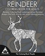 Reindeer Coloring Book for Adults