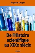 de L'Histoire Scientifique Au Xixe Siecle