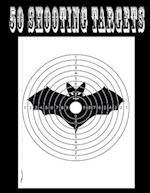 50 Shooting Targets 8.5 X 11 - Silhouette, Target or Bullseye