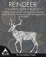 Reindeer Colouring Book for Adults
