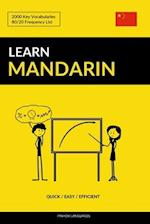 Learn Mandarin - Quick / Easy / Efficient