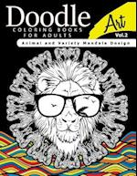 Doodle Coloring Books for Adults Art Vol.2