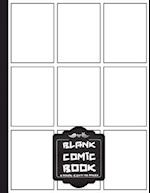 Comic Book Pages - 8.5x11 with 9 Panel Over 100 Pages(blank Comic Book), for Drawing Your Own Comics, for Artists of All Levels (Comic Books for Kids)