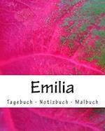 Emilia - Tagebuch - Notizbuch - Malbuch