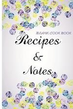 Blank Cookbook Recipes & Notes (Watercolor Series)