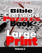 Bible Crossword Puzzle Book Large Print Volume 2