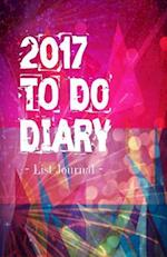 2017 to Do Diary List Journal