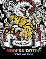 Modren Tattoo Coloring Book