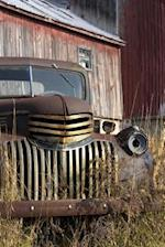 Vintage Old Truck by a Barn Journal