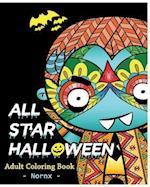 All Star Halloween Coloring Book for Adult